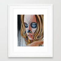 day of the dead Framed Art Prints featuring day of the dead by drisd