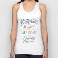 hogwarts Tank Tops featuring Hogwarts by IndigoEleven