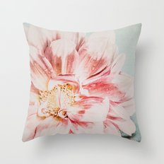 Pink Blush Flower Throw Pillow