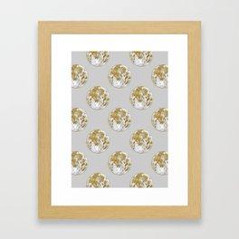 Golden Moon Pattern Framed Art Print
