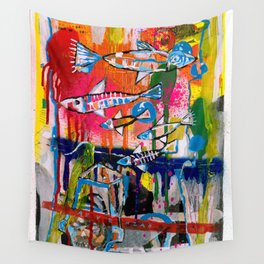 Revenzao con peces Wall Tapestry