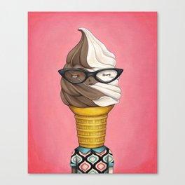 ILL Humored Ice Cream - Chocolate Vanilla Swirl Canvas Print