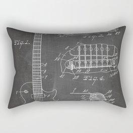 Gibson Guitar Patent - Les Paul Guitar Art - Black Chalkboard Rectangular Pillow