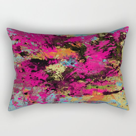 Express Yourself IV - Abstract, oil painting Rectangular Pillow