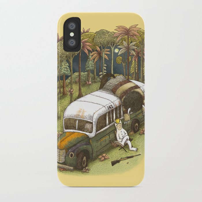 Into The Wild Things iPhone Case