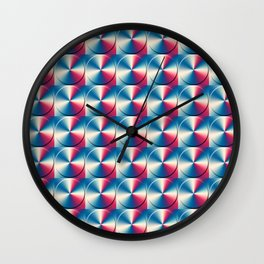 Metal circles pattern Wall Clock