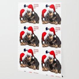 Puppy White Christmas I Saw Mummy Kissing Santa Claus Wallpaper