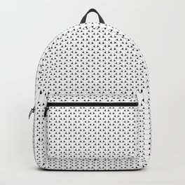 Black and White Basket Weave Shape Pattern - Graphic Design Backpack