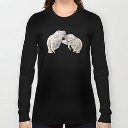 Manatees in love Long Sleeve T-shirt