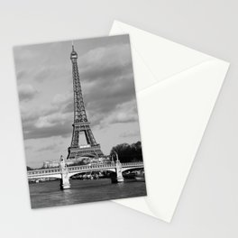 Eiffel Tower Black & White Stationery Cards