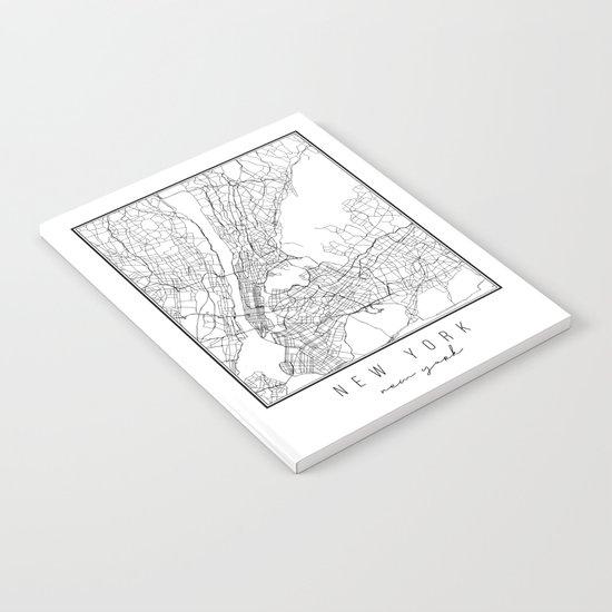 New York New York Street Map by typologiepaperco