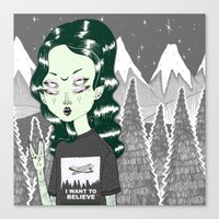 loll3 Canvas Prints featuring ☽ ZELINA ☾ by lOll3