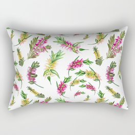 Australian Native Flower Bottlebrush Print Rectangular Pillow