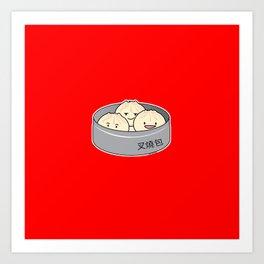 Pork Bun dim sum Chinese breakfast steamed bbq buns Art Print