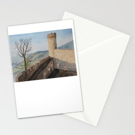 German Castle watercolor painting Stationery Cards