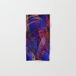 Abstract blue background Hand & Bath Towel