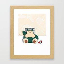 Snorlax x Keg Framed Art Print