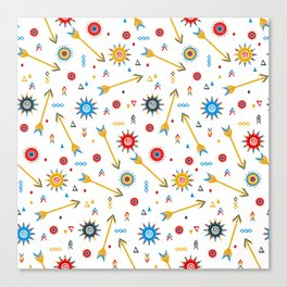 Ditsy print with geometric shapes Canvas Print