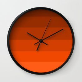 Pumpkin Spice in the Fall - Color Therapy Wall Clock