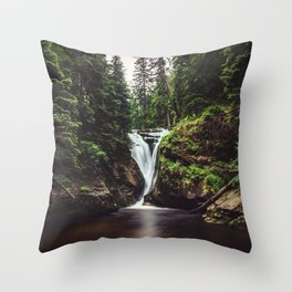 Pure Water - Landscape and Nature Photography Throw Pillow