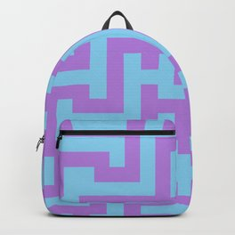 Lavender Violet and Baby Blue Labyrinth Backpack