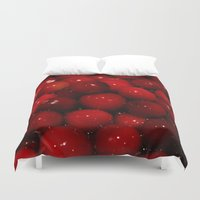 cooking Duvet Covers featuring Photo of Cooking Cranberries by Griffing Designs, LLC