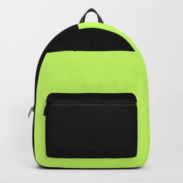 Lime And Black Block Backpack