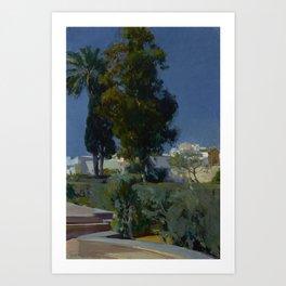 Joaquín Sorolla y Bastida (Spanish, 1863 - 1923) Corner of the Garden, Alcazar, Sevilla, 1910, Oil Art Print