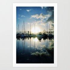mirrored marina Art Print