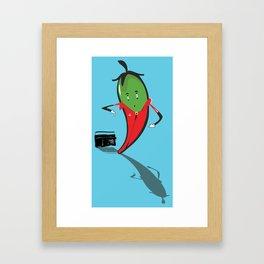 Jalapeño Popper Framed Art Print