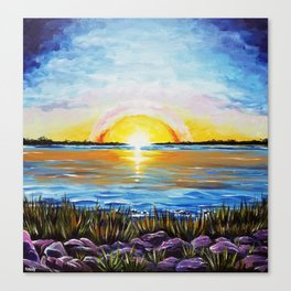 Sunset Over Broad Bay Canvas Print