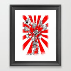 seppuku monster Framed Art Print