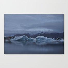 Icebergs at glaciar lagoon in Iceland Canvas Print