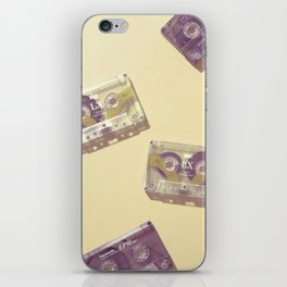 Cassettes in yellow iPhone Skin