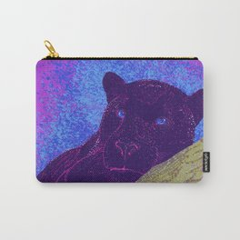 Purple panther on a branch - Purple Carry-All Pouch
