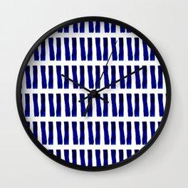 Shibori Clubs Wall Clock