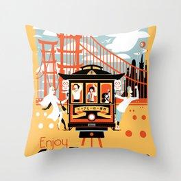 Enjoy San Fransokyo Throw Pillow