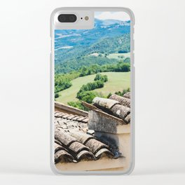Umbrian landscapes Clear iPhone Case