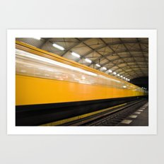 Berlin Subway Art Print