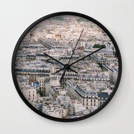 Paris City View from Sacre Coeur Wall Clock
