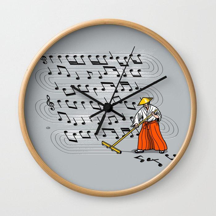 Japanese Zen Garden Song Wall Clock