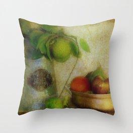 Bush Lemons and Fruit Throw Pillow
