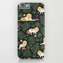 Gentle Lions Jungle Green iPhone Case