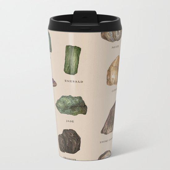 Gems and Minerals Metal Travel Mug