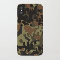 jay fleck iPhone & iPod Cases featuring Fleck Tarn Camoflauge  by Derek Boman