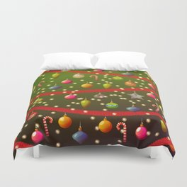 Look at these Christmas decorations! Duvet Cover