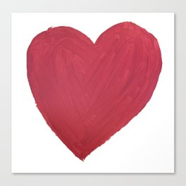 Hand Painted Heart Canvas Print