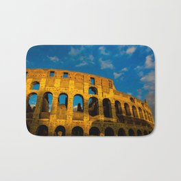 Sunset Over The Roman Colosseum Bath Mat