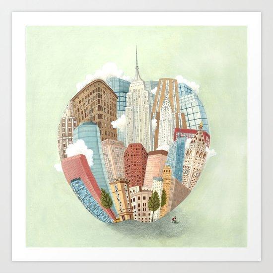 The Big Apple and I Art Print