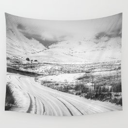 Prowler Needs A Jump - Black and White Wall Tapestry